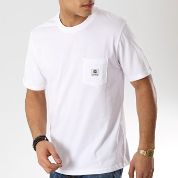 Element - Tee Shirt Poche Basic Pocket Label Blanc