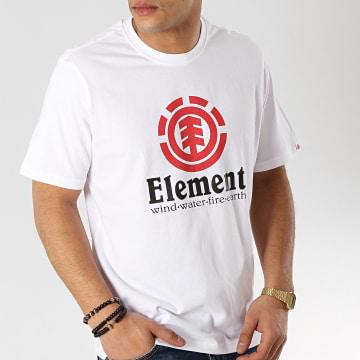 Element - Tee Shirt Vertical Blanc
