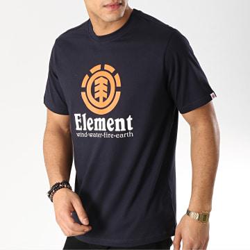Element - Tee Shirt Vertical Bleu Marine