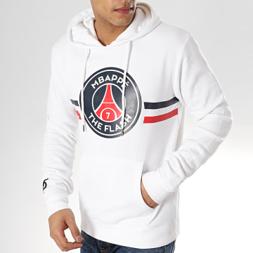 Sweat Capuche The Flash Mbappé Blanc
