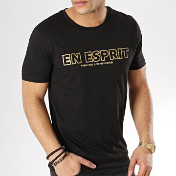 Heuss L'Enfoiré - Tee Shirt En Esprit Outline Noir Or