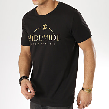 Tee Shirt Midi Midi Noir Or