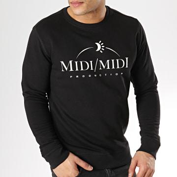 Sweat Crewneck Midi Midi Noir