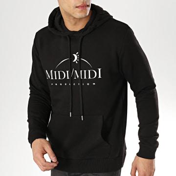 Sweat Capuche Midi Midi Noir