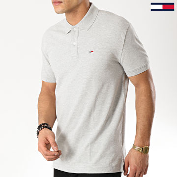 Tommy Jeans - Polo Manches Courtes Classics Solid 6112 Gris Chiné