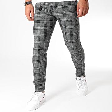 Pantalon Carreaux P19020 Noir Chiné Vert