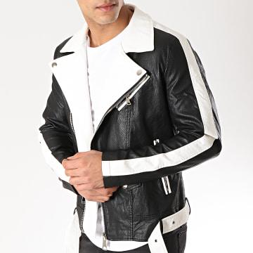 Veste Biker 88911 Noir Blanc