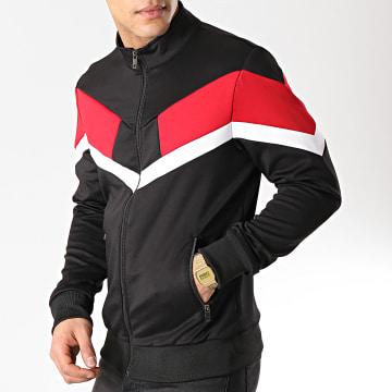 Terance Kole - Veste Zippée 98172 Noir Rouge Blanc