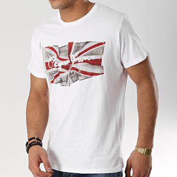 Pepe Jeans - Tee Shirt Flag Blanc