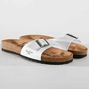 Pepe Jeans - Sandales Bios PMS90010 Blanc