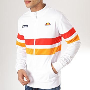 Veste Zippée Rayures 1035N Blanc Rouge Orange