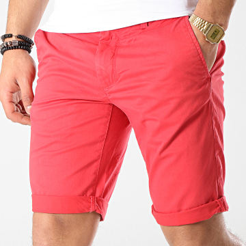 Teddy Smith - Short Chino Stretch Rouge