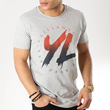 YL - Tee Shirt Logo Gris Chiné