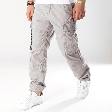 Deeluxe - Pantalon Cargo Tropery Gris