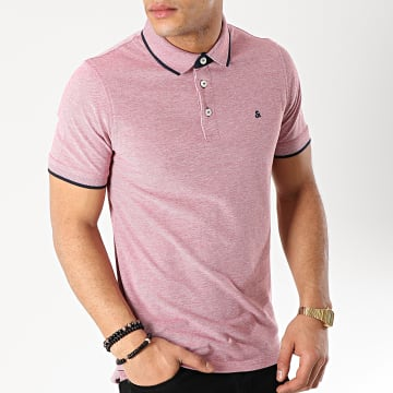 Jack And Jones - Polo Manches Courtes Paulos Rouge Blanc