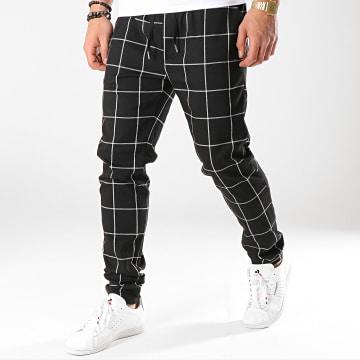 Pantalon Carreaux 7337-QR04 Noir Blanc