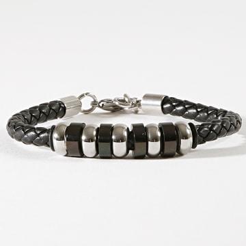 Bracelet Pearl B731Noir Argenté