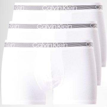 Calvin Klein - Lot de 3 Boxers NB1799A Blanc