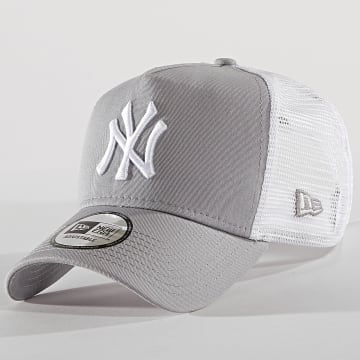New Era - Casquette Trucker Clean New York Yankees 11588490 Gris Blanc