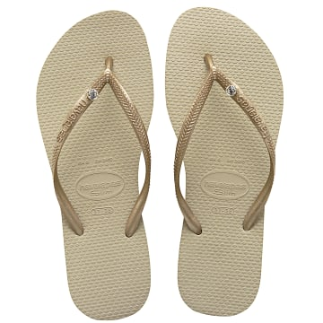 Havaianas - Tongs Femme Slim Crystal Glamour 4119517 Rose Gold