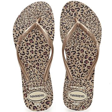 Tongs Femme Animals 4103352 Leopard Marron