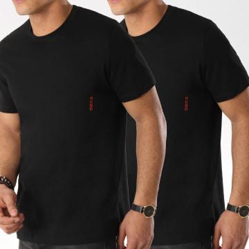 HUGO - Lot De 2 Tee Shirts Twin 50408203 Noir