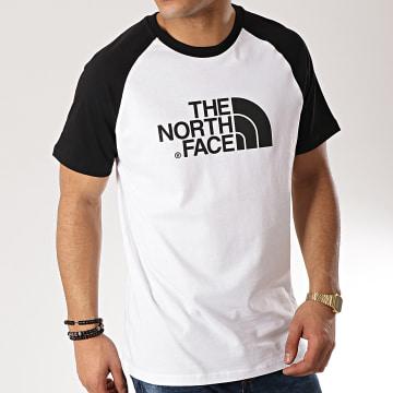 Tee Shirt Raglan Easy 37FV Blanc Noir