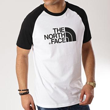 The North Face - Tee Shirt Raglan Easy 37FV Blanc Noir