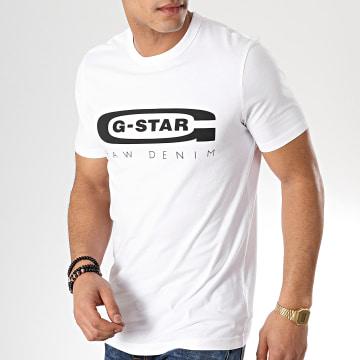 G-Star - Tee Shirt Graphic 4 D15104-336 Blanc