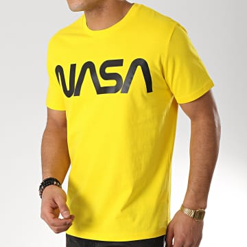 NASA - Tee Shirt Worm Logo Jaune