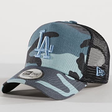 Casquette Trucker Essential Los Angeles Dodgers Bleu Clair Bleu Marine Camouflage