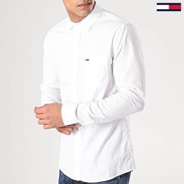 Chemise Manches Longues Solid Poplin 5991 Blanc