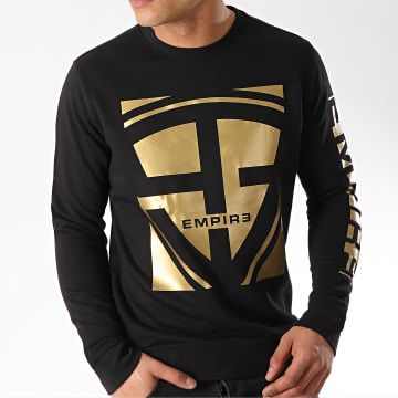93 Empire - Sweat Crewneck 93 Square Noir Doré