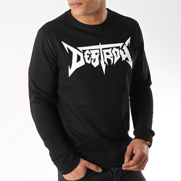 Neochrome - Sweat Crewneck Destroy Noir Blanc
