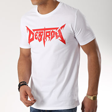 Seth Gueko - Tee Shirt Destroy Blanc Rouge