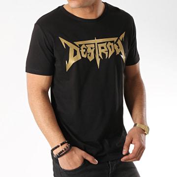 Neochrome - Tee Shirt Destroy Noir Doré