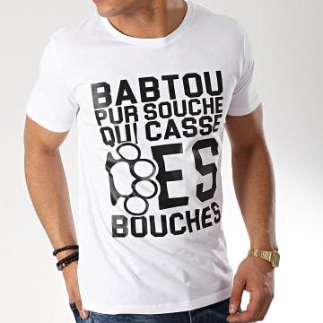 25G - Tee Shirt Babtou Pur Souche Blanc