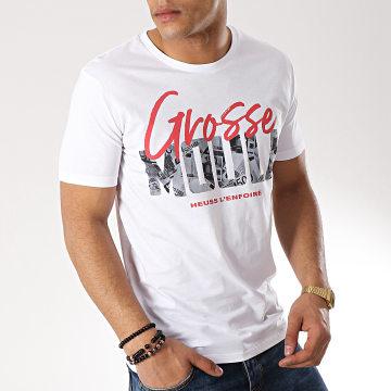 Heuss L'Enfoiré - Tee Shirt Grosse Moula Blanc Rouge