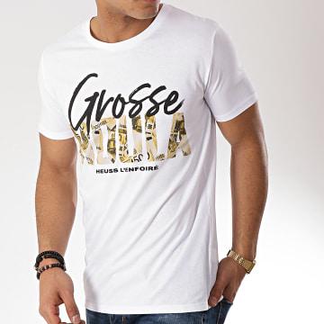 Heuss L'Enfoiré - Tee Shirt Grosse Moula Blanc Or