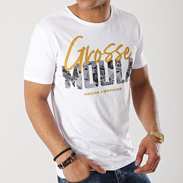 Heuss L'Enfoiré - Tee Shirt Grosse Moula Blanc Ocre