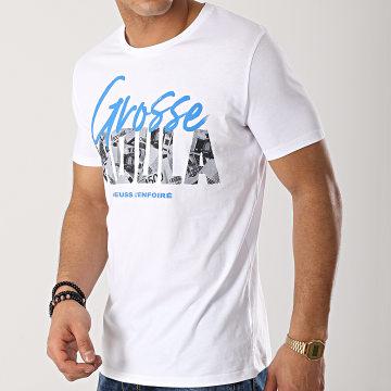 Heuss L'Enfoiré - Tee Shirt Grosse Moula Blanc Bleu