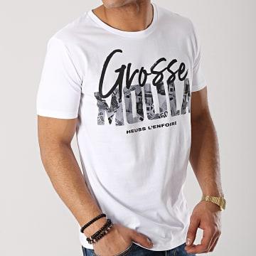 Heuss L'Enfoiré - Tee Shirt Grosse Moula Blanc Noir