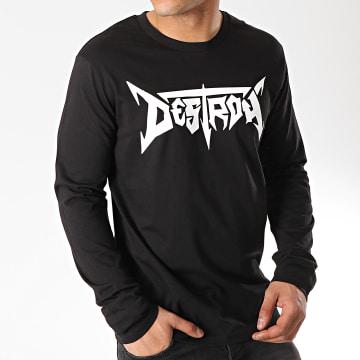 Seth Gueko - Tee Shirt Manches Longues Destroy Noir