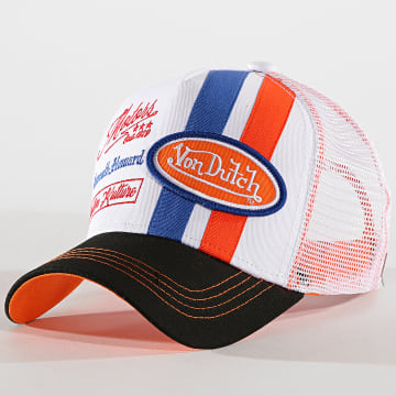Von Dutch - Casquette Trucker McQueen Noir Blanc Orange