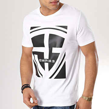 93 Empire - Tee Shirt 93 Square Blanc