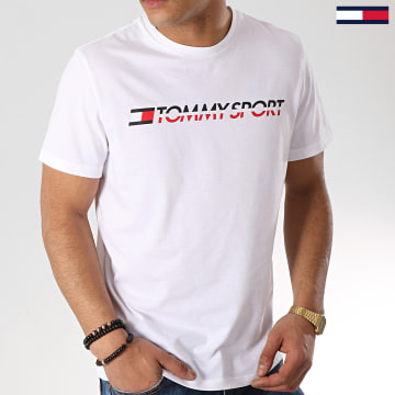 Tommy Sport - Tee Shirt Logo Chest S20S200051 Blanc