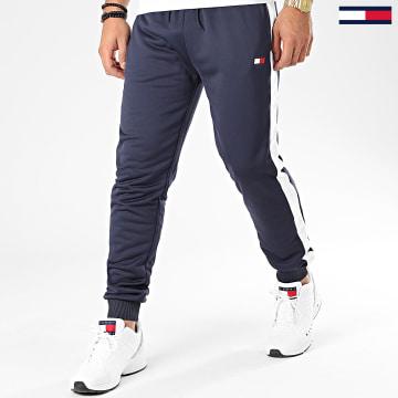 Pantalon Jogging Avec Bandes Flag 0062 Bleu Marine Blanc