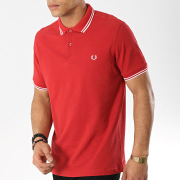 Polo Manches Courtes Twin Tipped M3600 Rouge Blanc