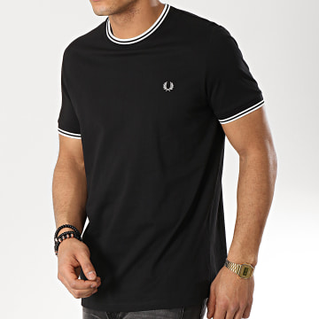 Fred Perry - Tee Shirt Twin Tipped M1588 Noir Blanc