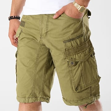 Geographical Norway - Short Cargo Panoramique Basic Vert Kaki